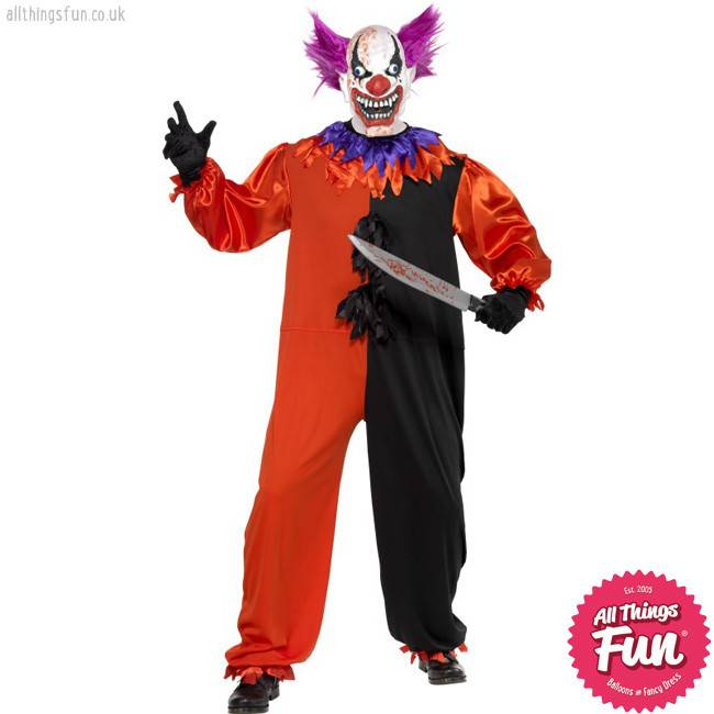 Smiffys Cirque Sinister Scary Bo Bo the Clown Costume