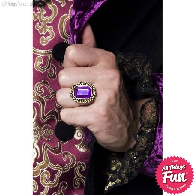 Smiffys Gothic Manor Jewelled Ring