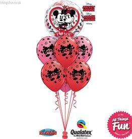 Mickey & Minnie I Love You  Bubble Luxury