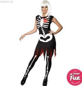 Smiffys *DISC* Bright Bones Glow in the Dark Costume