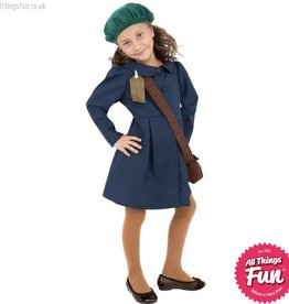 Smiffys World War II Evacuee Girl Costume