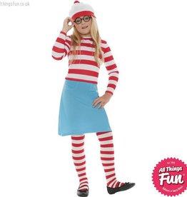 Smiffys Where's Wally? Wenda Child Costume