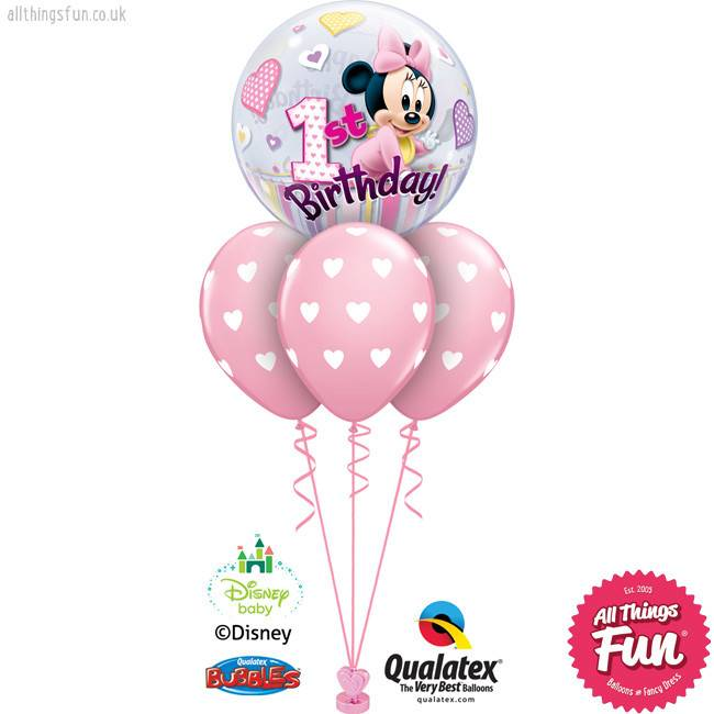 All Things Fun Disney Minnie Mouse 1st Birthday Bubble Layer