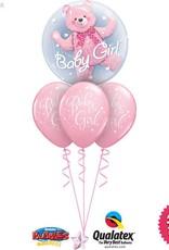 Baby Girl Bear Bubble Layer