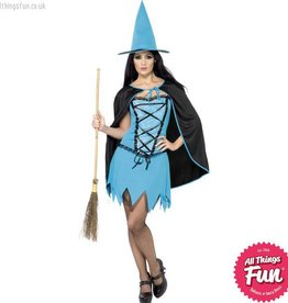 Smiffys *DISC* Blue Sparkle Witch Small