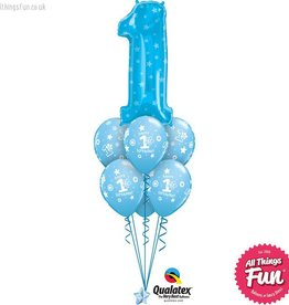 Number One Blue Birthday Luxury
