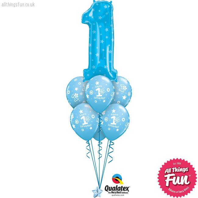 Number One Blue Birthday Luxury