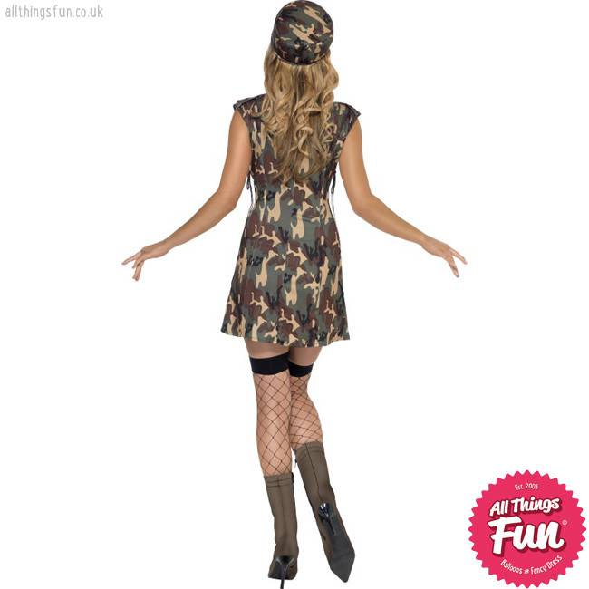 Smiffys Fever Army Girl Costume