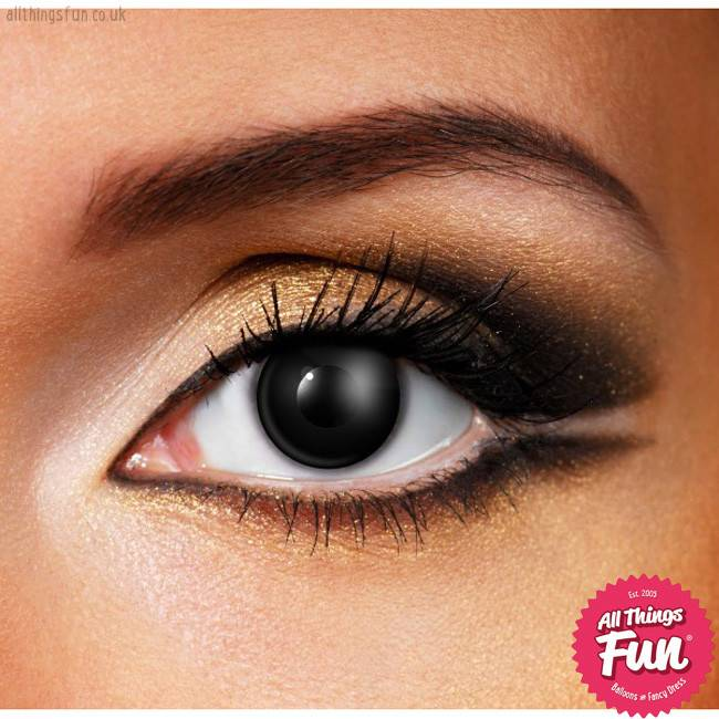 Funky Vision Black Cosmetic Lens - 90 Day
