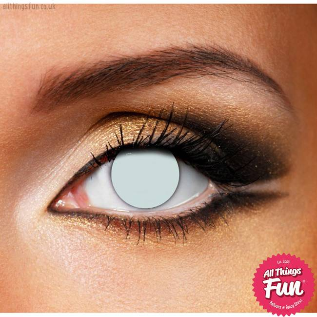 Funky Vision Blind White Cosmetic Lens - 90 Day