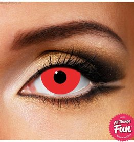 Funky Vision Mini Sclera Red Cosmetic Lens - 90 Day