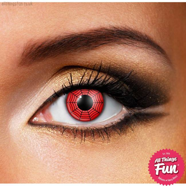 Funky Vision Red Web Cosmetic Lens - 90 Day