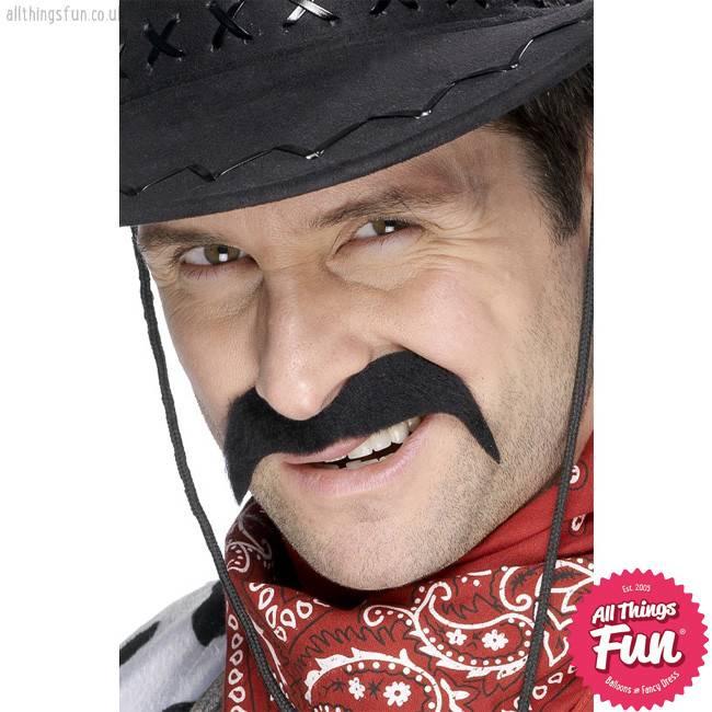 Smiffys Black Cowboy Tash