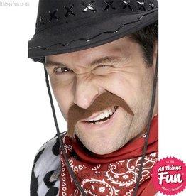 Smiffys Brown Cowboy Tash
