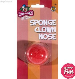 Smiffys Red Sponge Clown Nose