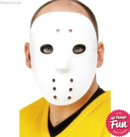 Smiffys White Plastic Hockey Mask