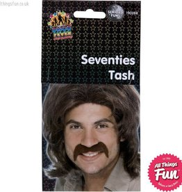 Smiffys Brown Seventies Tash