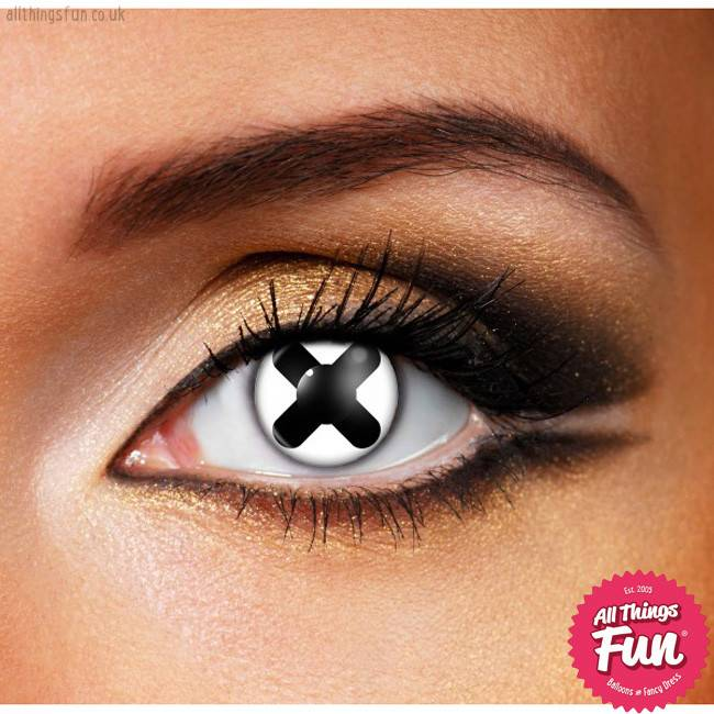 Funky Vision Cross Cosmetic Lens - 90 Day