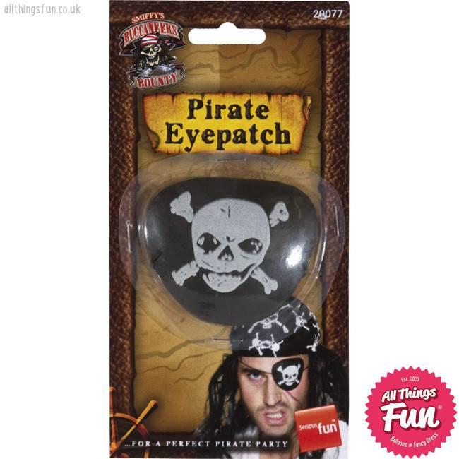 Smiffys Skull & Crossbones Pirate Eyepatch