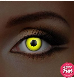 Funky Vision I Glow Yellow Cosmetic Lens - 90 Day