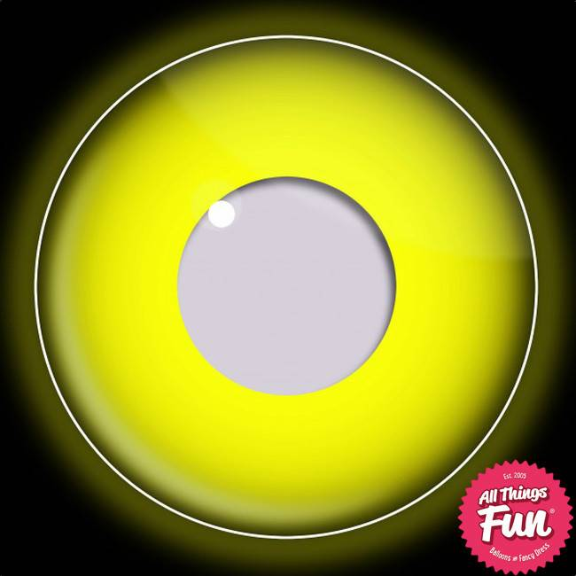 Funky Vision I-Glow Yellow Cosmetic Lens - 90 Day