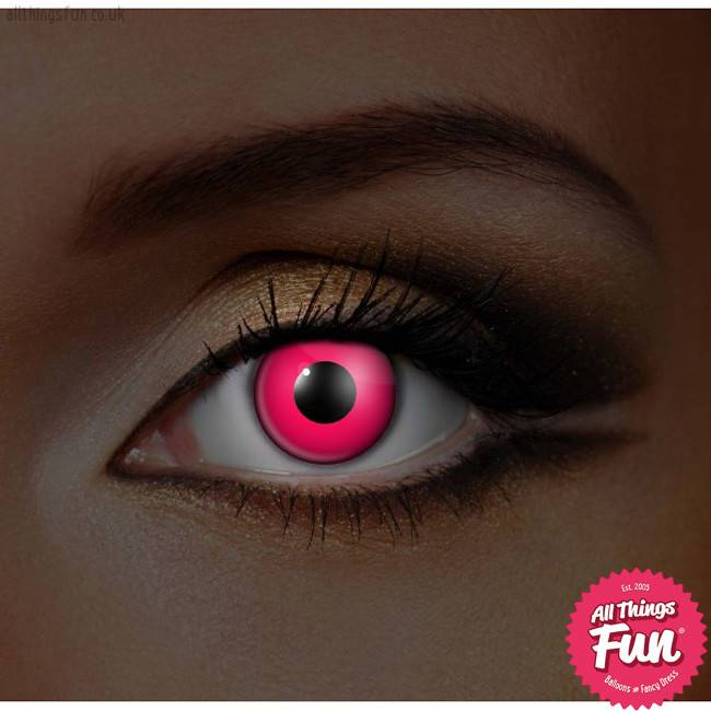 Funky Vision I Glow Pink Cosmetic Lens - 90 Day