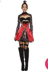 Smiffys Fever Queen Of Hearts Costume