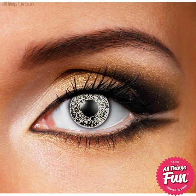 Funky Vision Glimmer Black and Gold Cosmetic Lens - 90 Day
