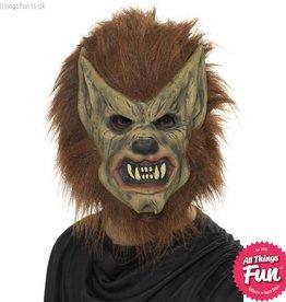 Smiffys Brown Werewolf Foam Latex Mask