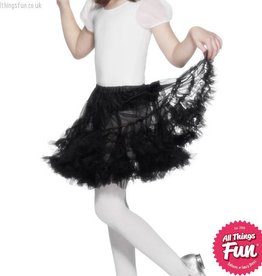 Smiffys Girls Black Layered Petticoat