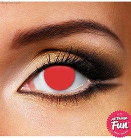 Funky Vision Blind Red Cosmetic Lens - 90 Day