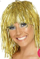 Smiffys Gold Cyber Tinsel Wig
