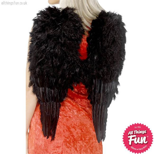 Smiffys Large Black Feathered Angel Wings