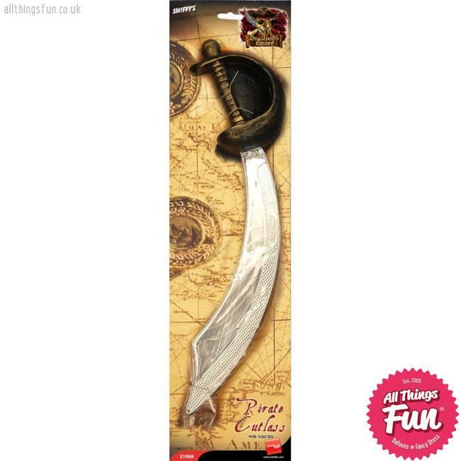 Smiffys Eyepatch and Pirate Sword Cutlass