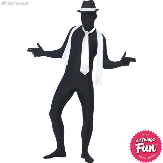 Smiffys Black Second Skin Suit