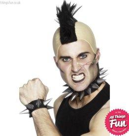 Smiffys Punk Choker and Wristband