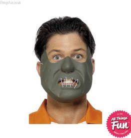 Smiffys Restraint Horror Mask Green on Elastic