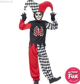 Smiffys Blood Curdling Jester Costume