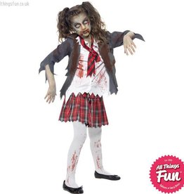 Smiffys Zombie School Girl Costume