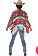 Smiffys Multi Coloured Poncho