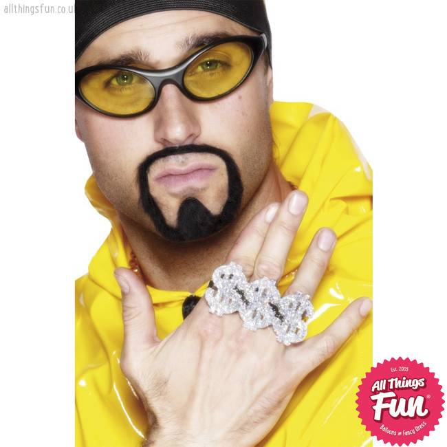 Smiffys 3 in 1 Dollar Rapper Ring