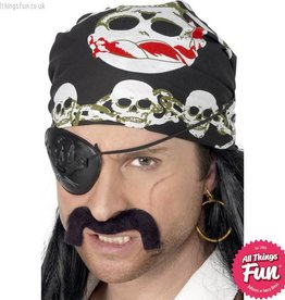 Smiffys Skull & Crossbones Black Pirate Bandana