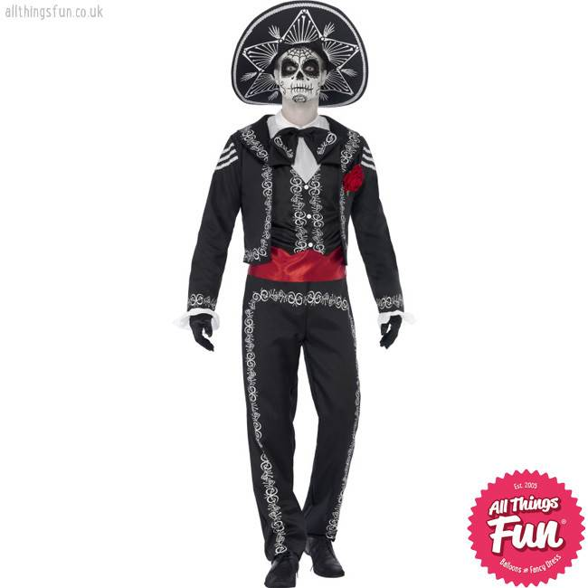 Smiffys Day of the Dead Senor Bones Costume