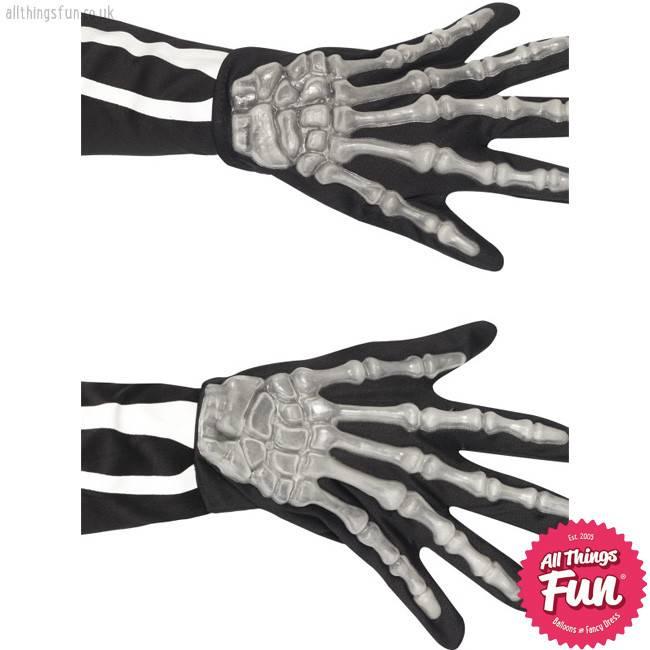 Smiffys Adult Skeleton Gloves
