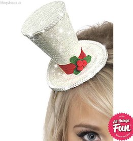 Smiffys Christmas Mini Top Hat on a Headband