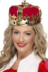 Smiffys Queen's Red & Gold Crown with Jewels