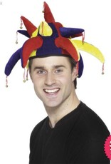 Smiffys Multi Coloured Jester Hat with Bells