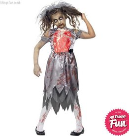 Smiffys Child's Zombie Bride Costume