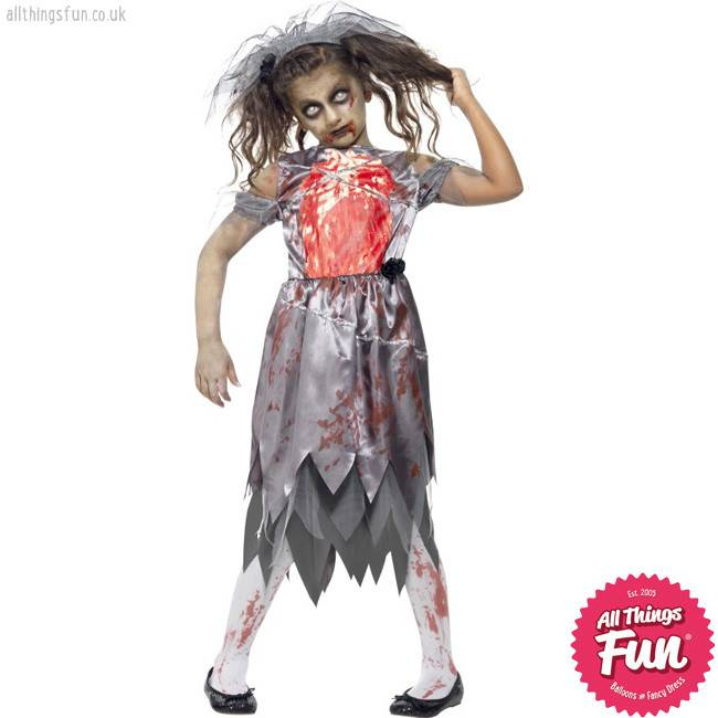 Smiffys Child's Zombie Bride Costume