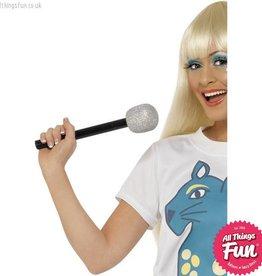 Smiffys Silver Glitter Microphone